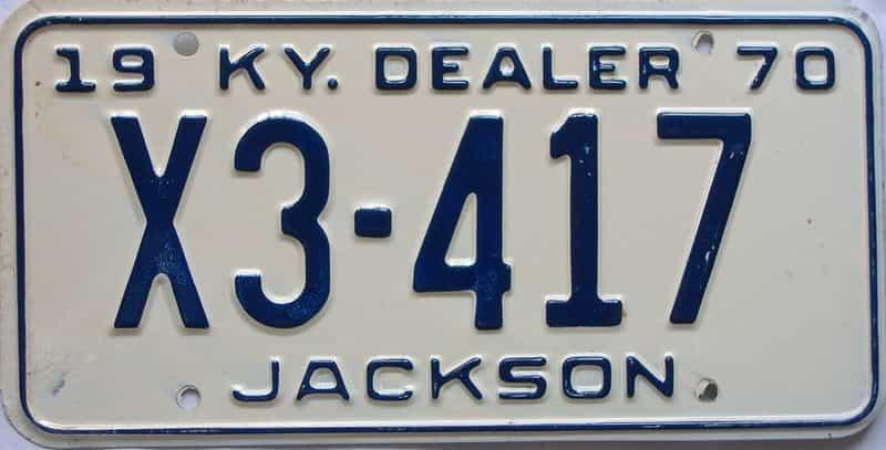 1970 KY (Dealer) license plate for sale