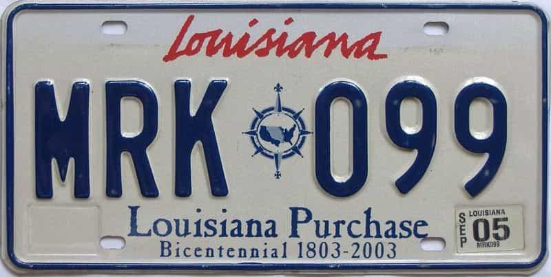 2005 Louisiana license plate for sale