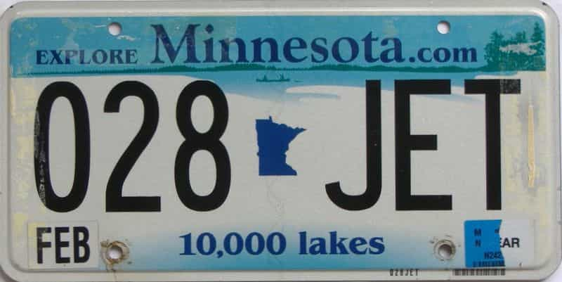 Minnesota (Single) license plate for sale
