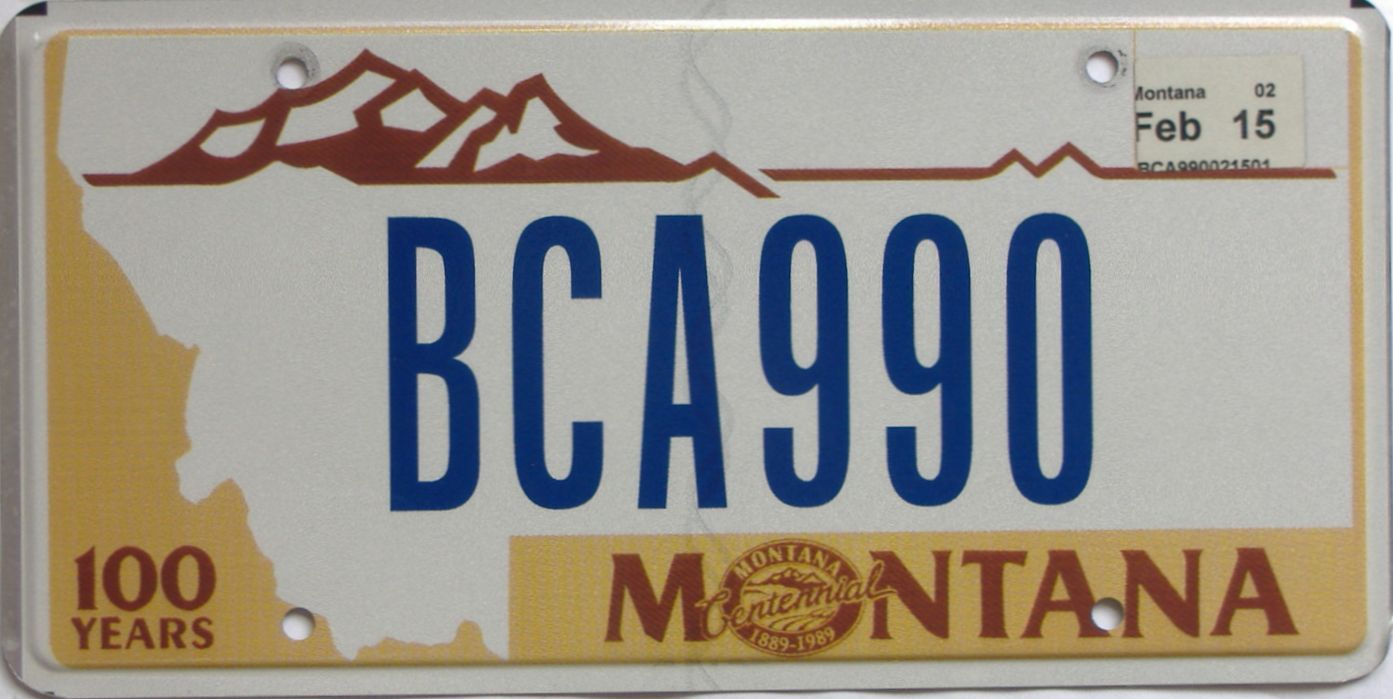 2015 MT (Natural Single) license plate for sale
