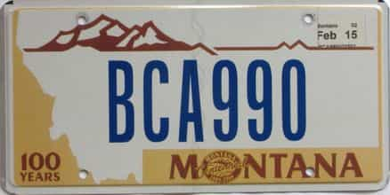 2015 Montana  (Natural Single) license plate for sale