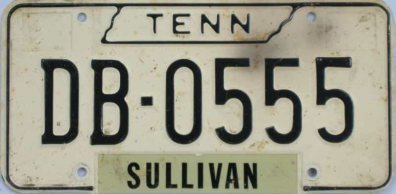 1966 TN (Single) license plate for sale