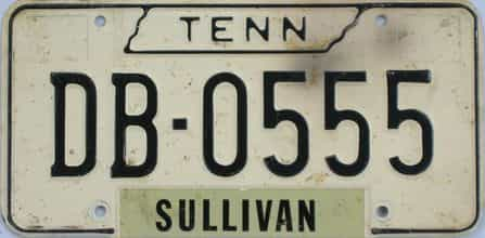 1966 Tennessee (Single) license plate for sale