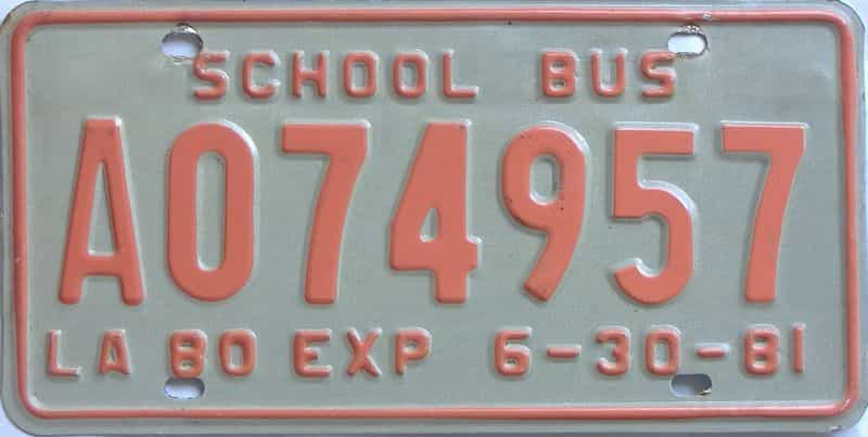 1981 Louisiana (Non Passenger) license plate for sale