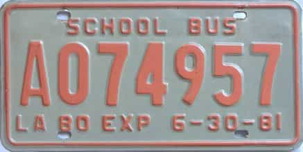 1981 Louisiana  (Non Passenger) license plate for sale