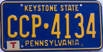 Pennsylvania license plate for sale