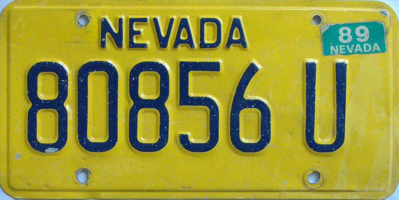 1989 Arizona (Non Passenger) license plate for sale