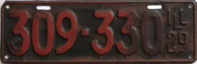 1929 Illinois (Single) license plate for sale