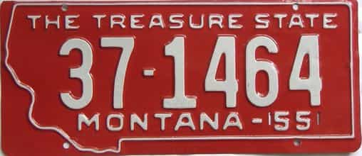 1955 Montana (Single) license plate for sale