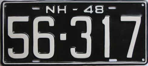1948 New Hampshire (Older Repaint) license plate for sale