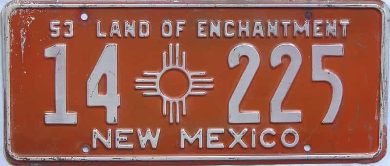 1953 NM license plate for sale