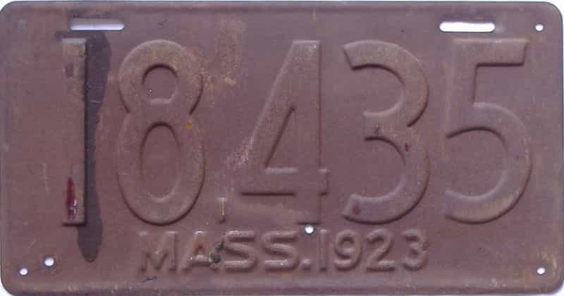 1923 MA (Single) license plate for sale
