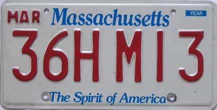 Massachusetts license plate for sale