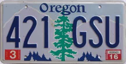 2016 Oregon (Natural Single) license plate for sale