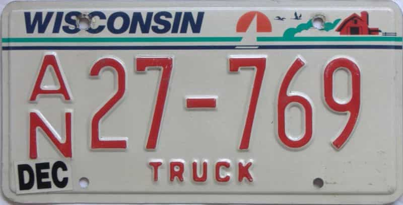 WI (Truck) license plate for sale