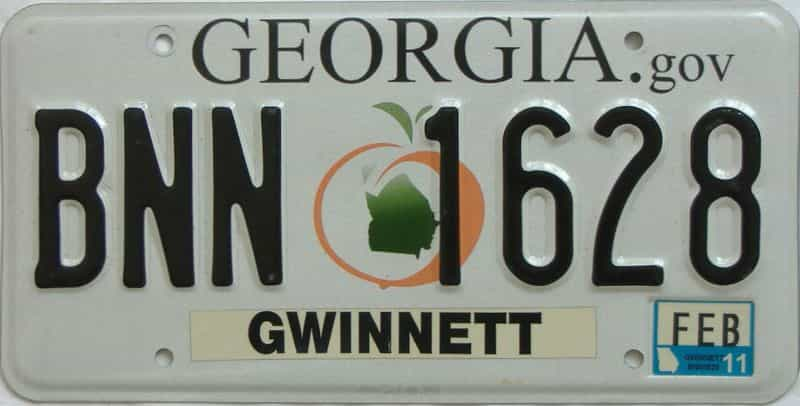 2011 Georgia (Natural) license plate for sale