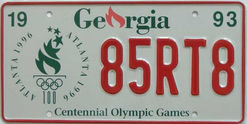 1993 Georgia license plate for sale