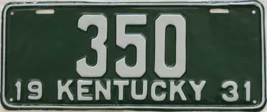 RESTORED 1931 Kentucky (Single) license plate for sale