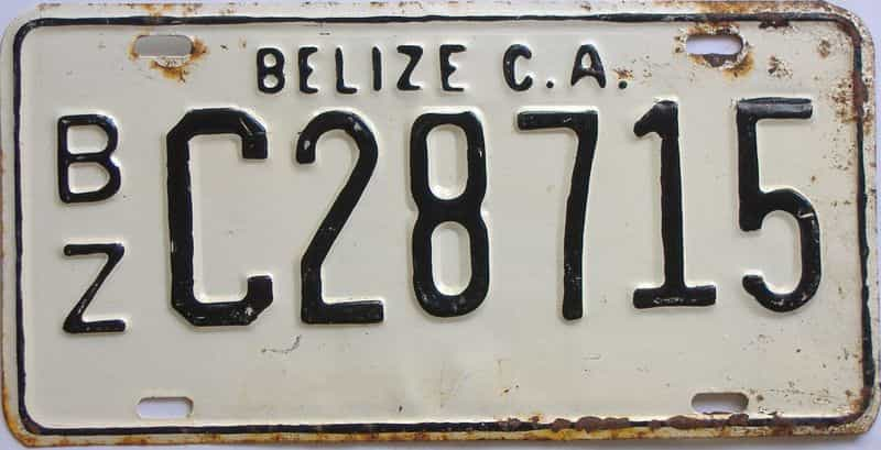 1989 Foreign license plate for sale
