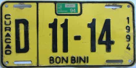 1994 Foreign license plate for sale