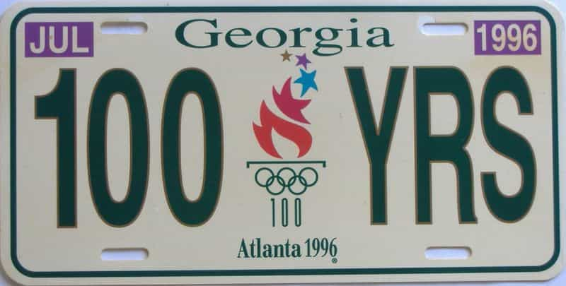 1996 Miscellaneous (Plastic) license plate for sale