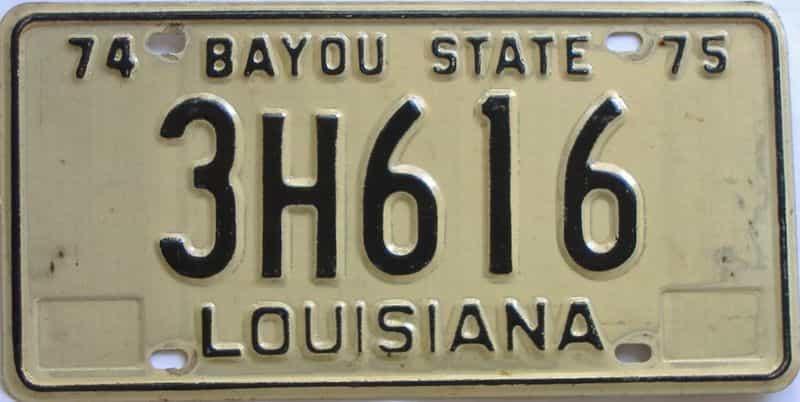 1974 Louisiana license plate for sale