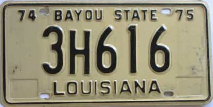 1974 Louisiana license plate for sale