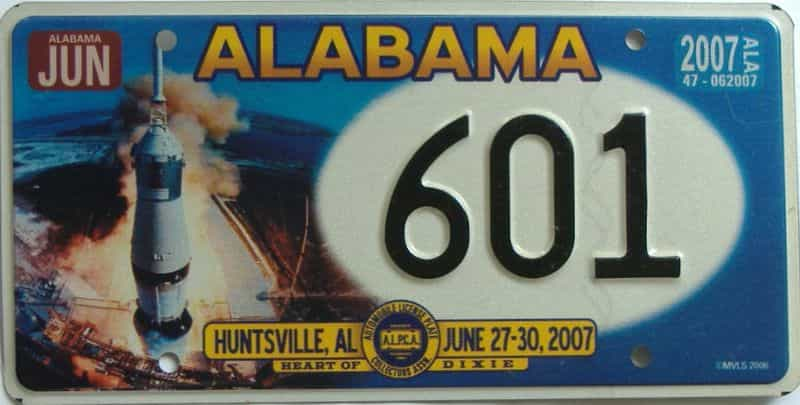 2007 Miscellaneous license plate for sale