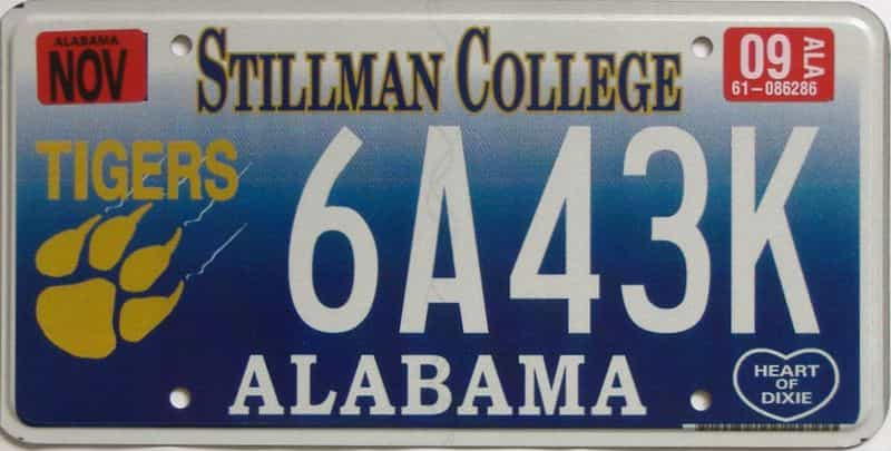2009 Alabama  (Natural) license plate for sale