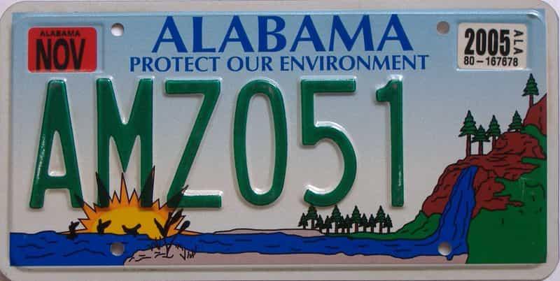 2005 Alabama (Natural) license plate for sale