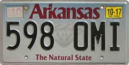 2017 Arkansas license plate for sale
