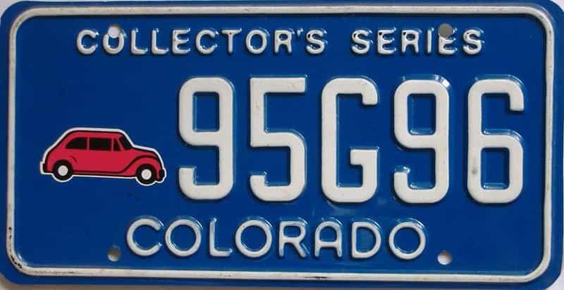 Colorado license plate for sale