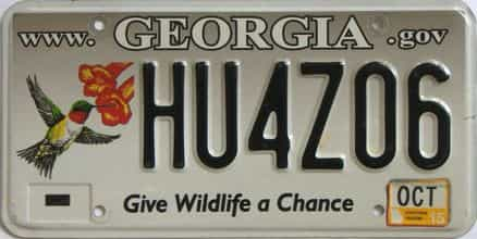 2015 Georgia license plate for sale