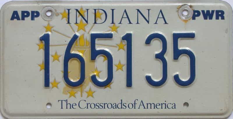 Indiana license plate for sale