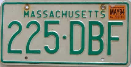 1994 Massachusetts (Natural) license plate for sale