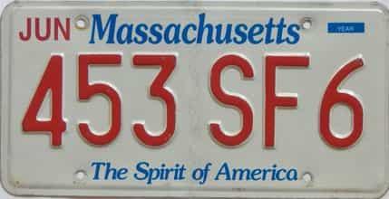 Massachusetts license plate for sale