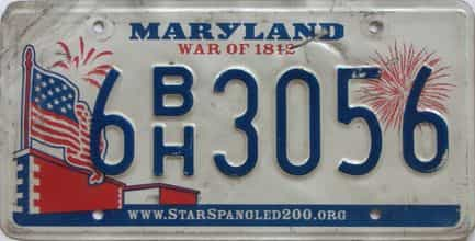 Maryland (As-Found) license plate for sale