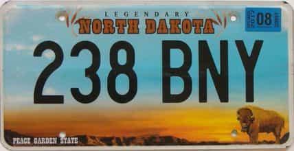 2017 North Dakota (Single) license plate for sale