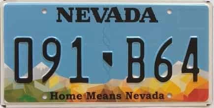 Nevada (Single) license plate for sale