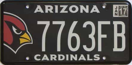 2017 Arizona license plate for sale