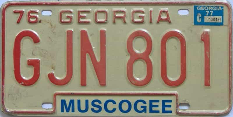 YOM 1977 Georgia YOM 1971 - 1989 license plate for sale