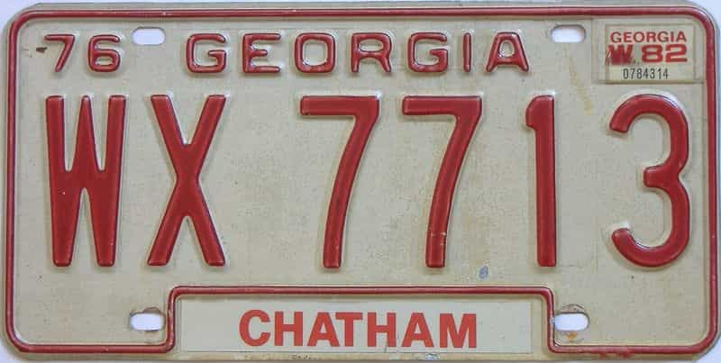 YOM 1982 Georgia  (Truck) license plate for sale