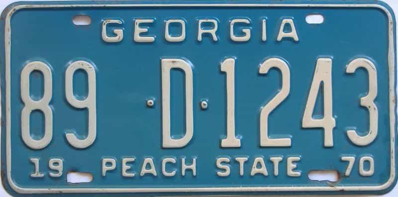 YOM 1970 Georgia (Rockdale) license plate for sale