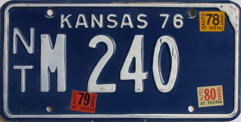 1980 Kansas license plate for sale