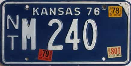 1980 Kansas license plate for sale