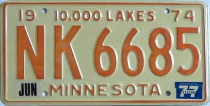 1977 Minnesota (Single) license plate for sale