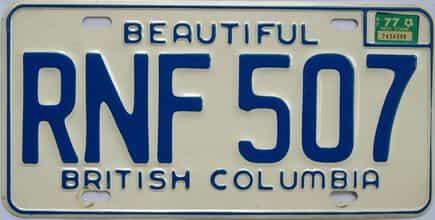 1977 CANADA (British Columbia)