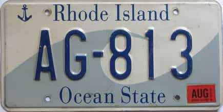 2008 Rhode Island (Single) license plate for sale