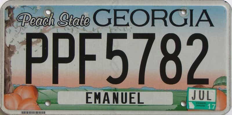 2017 Georgia license plate for sale