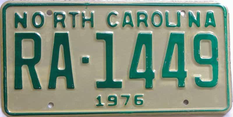 1976 North Carolina  (Truck) license plate for sale